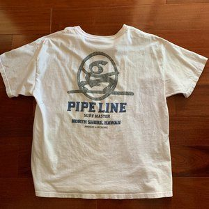 Vtg Pipe Line Surf Master North Shore Hawaii Tee